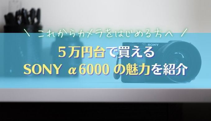 【予算5万円・ミラーレス一眼】SONY α6000はカメラ初心者の心強い味方 2021年最新
