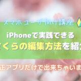 iPhoneレタッチ・さくら