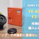 FE 40mm F2.5G レビュー(作例あり)|軽くて描写が最高なレンズを紹介|SONY Eマウント・単焦点レンズ・SEL40F25G