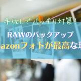 【RAWも無制限】Amazonフォトはカメラユーザに最高なバックアップ術 AmazonPhotospng