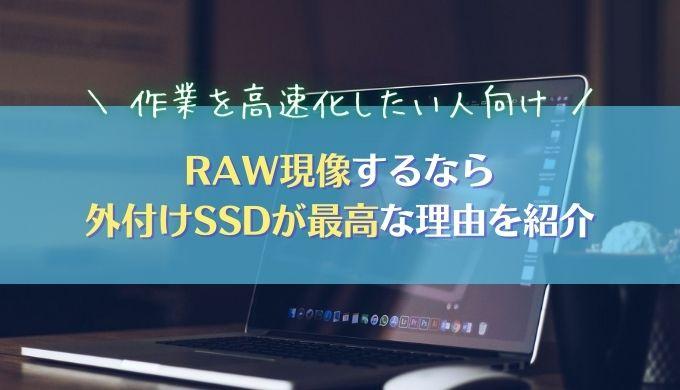 【RAW現像の作業環境】外付けSSDが最高だと結論づけた理由を紹介