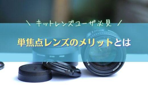 【単焦点のメリット】キットレンズユーザに単焦点レンズがおすすめな理由