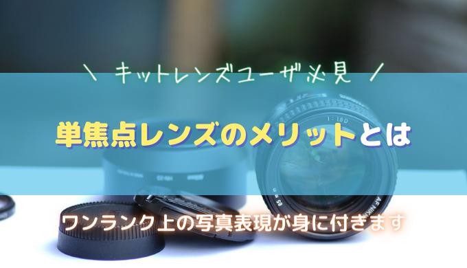 単焦点レンズのメリット キットレンズユーザ向け